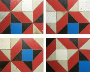 cuatro variaciones sobre la decoración de un balcón en la Calle Navellos. VLC