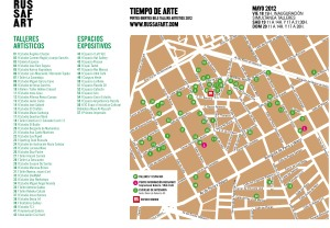 Mapa talleres artísticos y espacios expositivos