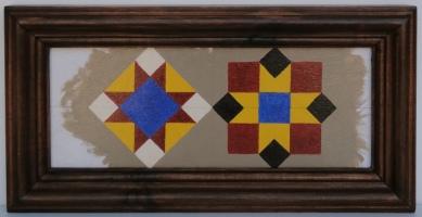 Calle San Vicente. Valencia. Acrílico. Marco artesano de madera de pino